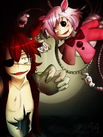 FNAF: Foxy and Mangle + Speedpaint by Bgm94