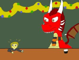 X-mas: Drinking with Thorn by HedgehogNinja94