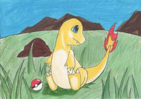 Shiny Charmander by Dawnisrising