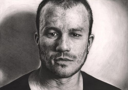 'Heath Ledger' Graphite portrait by Pen-Tacular-Artist
