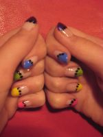 Colorful nails with dots by lowlance