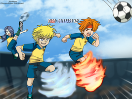 Let's play soccer in Inazuma eleven style by BiPinkBunny