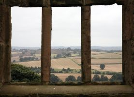 Castlewindow-view by NickiStock