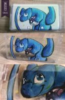 3DS Custom Case - Shining Mew by UmbreoNoctie