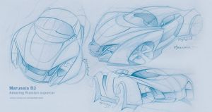 Marussia B2 sketches by candyrod