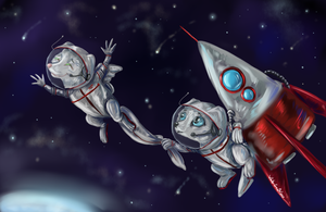 To space! by whitecrow-soul
