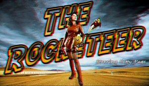Betty Page As The Rocketeer In 3D by Geosammy