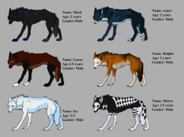 Male Wolves I've Adopted by Leland-Adopts