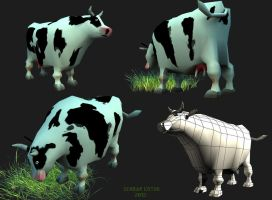 Retard cow by serdarcotuk