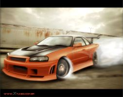 Skyline r34 drift spec by carl-designer