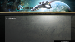 Star Citizen concept homepage by GuMNade