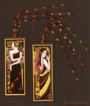 Art Deco Fairy Klimt Bookmarks by enchantedgal