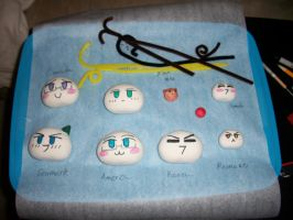 Mochis with faces -Still WIP- by ChibiKitsune-hime