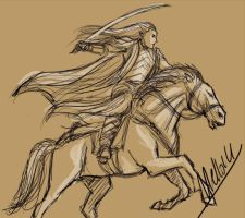 Rider Elrond WIP by MellorianJ