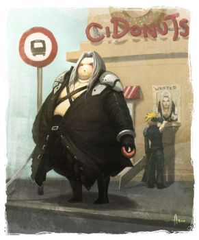 Final Fat-assy - Sephiroth by nJoo