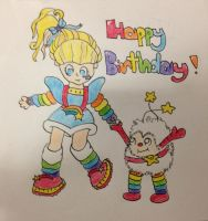 Rainbow Brite and Twink by Percedally