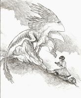 Sketching with Gryphons by ToothyBeastie