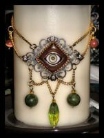 evil eye necklace by absynthia