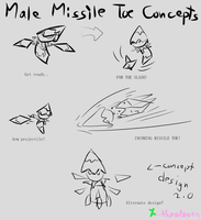 Male Missile Toe concept doodles by Showlover