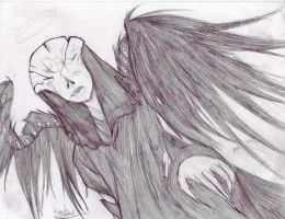 Angel of Death -Sketch- by Prota-Girl