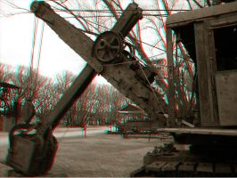 Steam Shovel - Anaglyph by Temphis