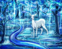 White Doe by FoxDJ