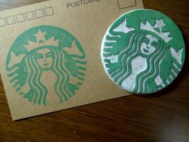 Starbucks Logo- Rubber stamp by dunkleLamm