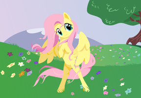 Fluttershy in the Wind by Kittita