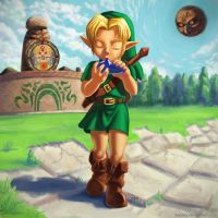 Majora's Mask Link by yodaxy