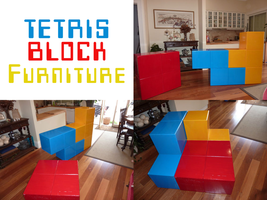 Handmade Tetris Modular Furniture by SN3AKYfox