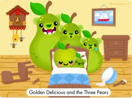 Golden Delicious and the Three Pears by FruityCuties