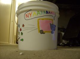 Nyan Cat Litter Pail by Gradendine