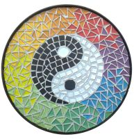 Ying Yang Mosaic top for table by EleonoraIlieva