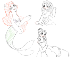 .My little Disney sketchdump. by Kikuri-Tan