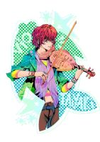 Vio and the Taiyaki Violin by aesthetica