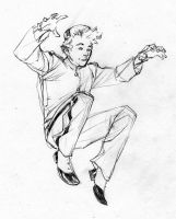 Spirou bouncing - Drink'n'Draw April24th2013 by SpiderGuile
