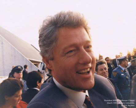 Bill Clinton at Rutgers 1993 by toksook