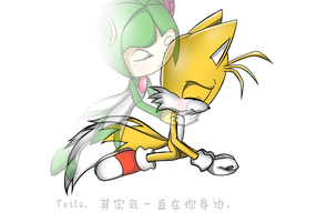Tails, I actually always around you. by CLAMICLAMI3