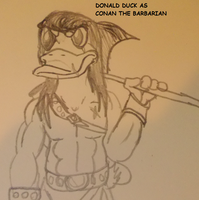 DONALD DUCK AS CONAN THE BARBARIAN by TMNTFAN85