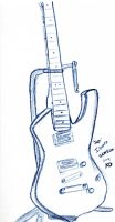 Ibanez Iceman freehand sketch by Koeryn