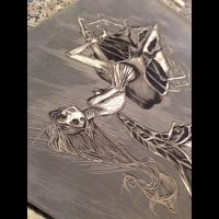 not printed linocut fairy by kisvocsok