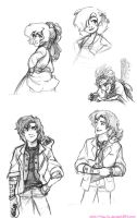 Class Sketches Dump - March 2013 by The-Ez