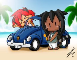 Beach Ride by freelancemanga
