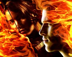 The Hunger Games. Katniss and Gale by StalkerAE