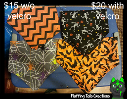 Halloween Bandannas for SALE! by FluffingTailsC