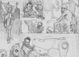 Zombie Years Page 20 Pencils by FWACATA
