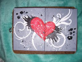 abstract heart design by Woogss
