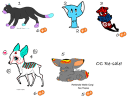 Oc Re-sale adopts by Milcay1