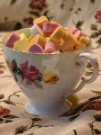 Candy Hearts Rose Teacup by angelandspot