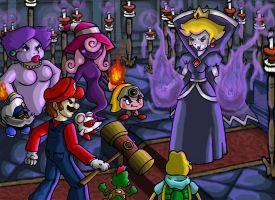 Paper Mario 2 Final Battle by captainsponge